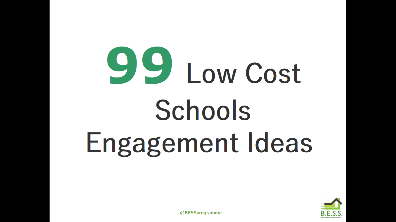 99 Ideas for Schools Engagement – Video and Workbook